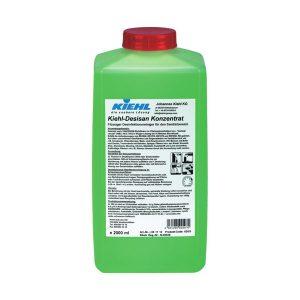 KIEHL Desisan konz.3x 2L savmentes tisztító és fertőtlenítőszer koncentrátum, felhasználható szaniter helyiségek minden felületén.