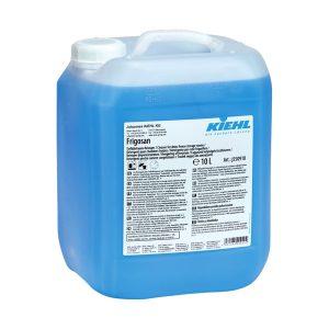 Tisztítószer, KIEHL - Frigosan 10L. Eltávolítja a mélyhűtő helyiségek olajos, zsíros szennyeződéseit és címkék ragasztó maradványait.