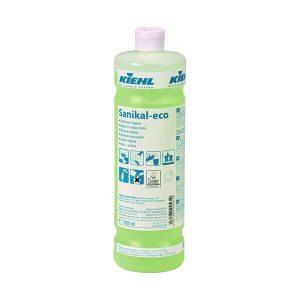 Sav- és klórmentes tisztítószer, mosdó, WC, szaniter helyiségek teljes tisztítására. KIEHL Sanikal-konz. 1L