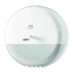 Fali wc papír adagoló, és tároló, fehér, TORK SmartOne