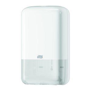 Hajtogatott WC papír adagoló és tároló,fali, fehér TORK Folded