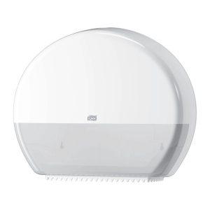 Mosdó fali WC papír adagoló és tartó, nagytekercses, fehér TORK Jumbo