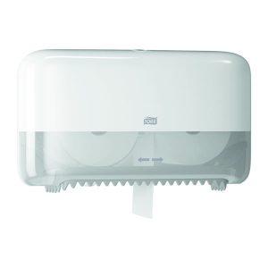 Fali, tekercses WC papír adagoló és tároló, TORK Mid-size dupla