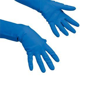 Latex gumikesztyű, Vileda Multipurpose kék, L