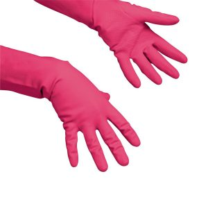Gumikesztyű mosogatáshoz, takarításhoz, Vileda latex Multipurpose piros, M