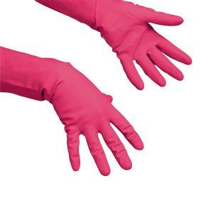 Gumikesztyű mosogatáshoz, takarításhoz, Vileda latex Multipurpose piros, XL