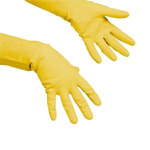 Gumikesztyű takarításhoz, Vileda latex Multipurpose sárga, S
