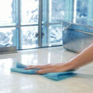 Szivacskendő, törlőkendő, VILEDA Quick n Dry tekercs, kék