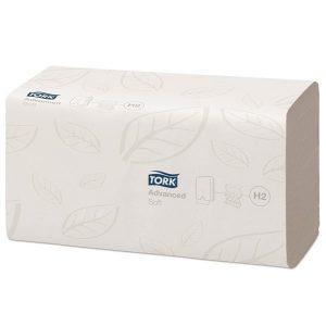 Puha papír kéztörlő lapok TORK