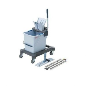 Vödrös takarítókocsi felmosó rendszer, valamint moptartó és mop